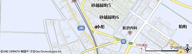 山形県酒田市砂越小形112周辺の地図