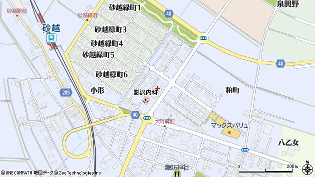 山形県酒田市砂越粕町86周辺の地図