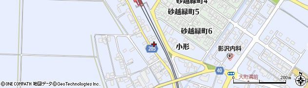 山形県酒田市砂越小形136周辺の地図
