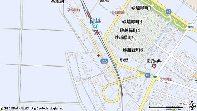山形県酒田市砂越上川原211周辺の地図