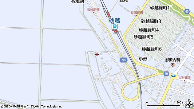 山形県酒田市砂越上川原234周辺の地図