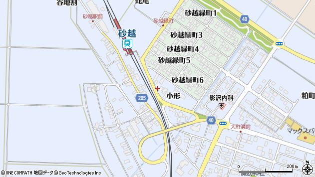 山形県酒田市砂越小形周辺の地図