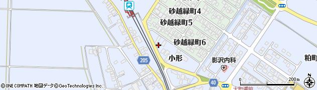 山形県酒田市砂越小形116周辺の地図