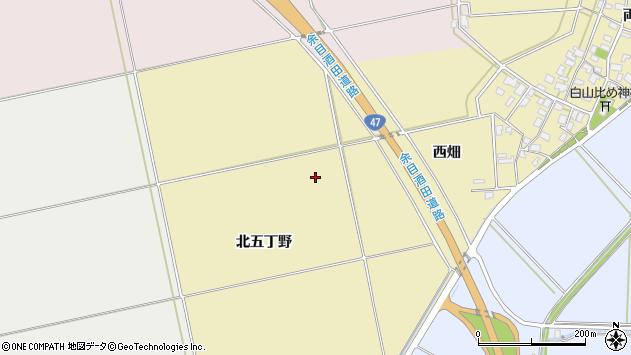 山形県酒田市小牧北五丁野周辺の地図