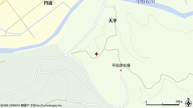 山形県酒田市中野俣赤田沢6周辺の地図