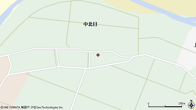 山形県酒田市中北目村立40周辺の地図