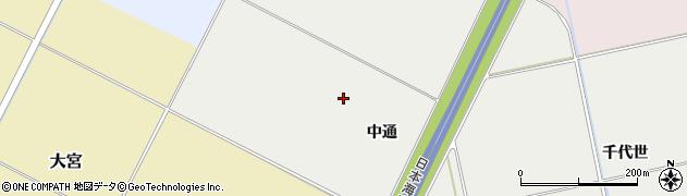 山形県酒田市遊摺部中通周辺の地図