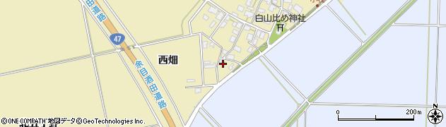 山形県酒田市小牧西畑周辺の地図