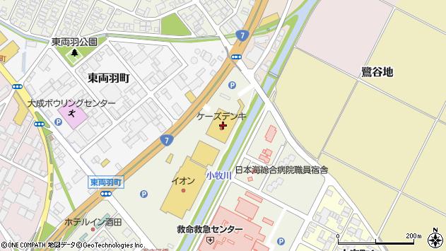 山形県酒田市あきほ町371周辺の地図