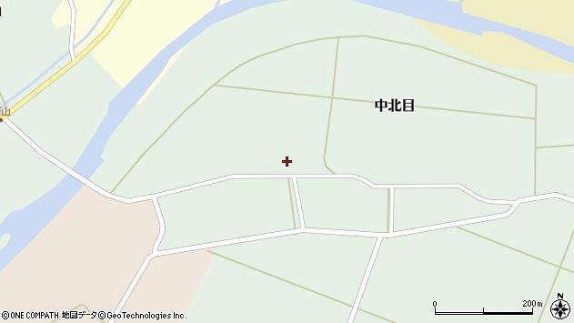 山形県酒田市中北目周辺の地図
