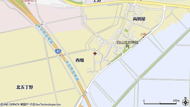 山形県酒田市小牧西畑14周辺の地図