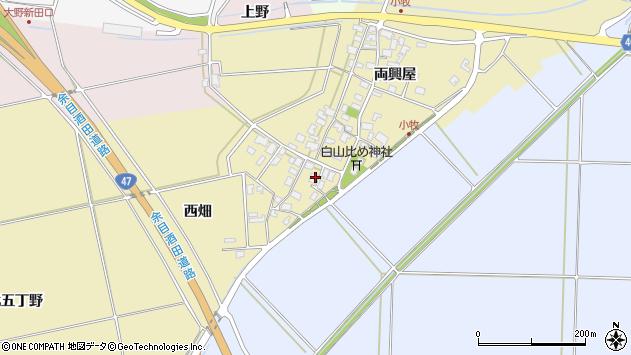 山形県酒田市小牧61周辺の地図