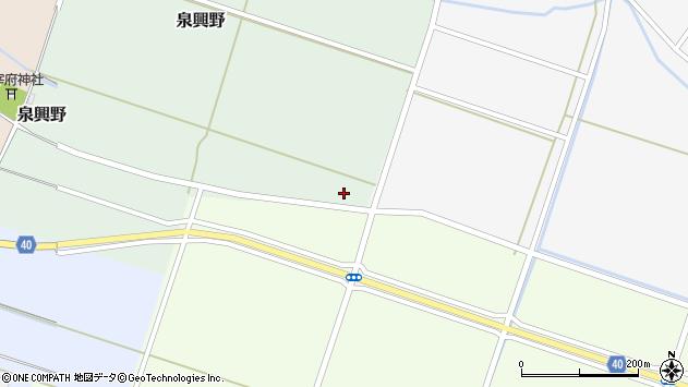 山形県酒田市泉興野村前畑114周辺の地図