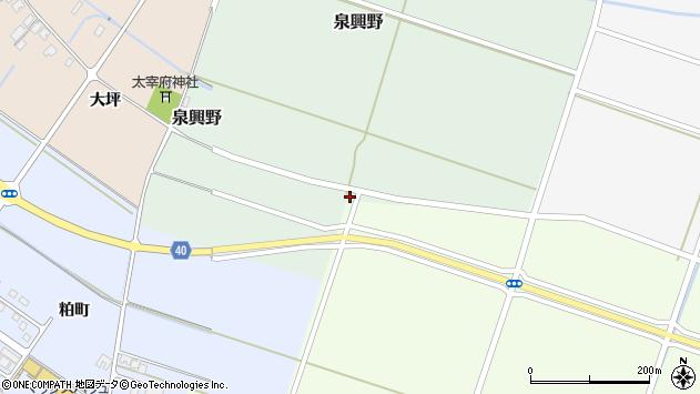 山形県酒田市泉興野135周辺の地図