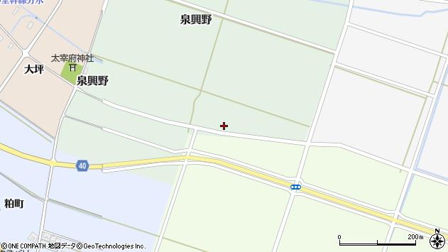 山形県酒田市泉興野村前畑47周辺の地図