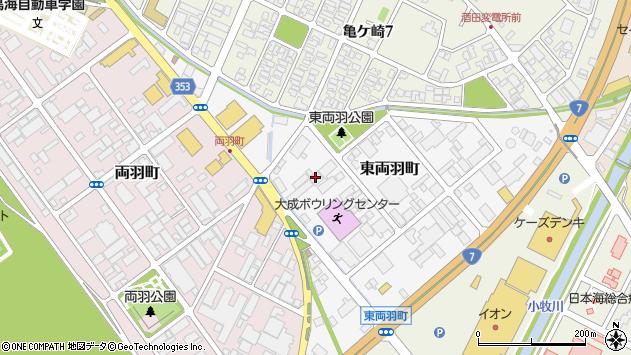 山形県酒田市東両羽町周辺の地図
