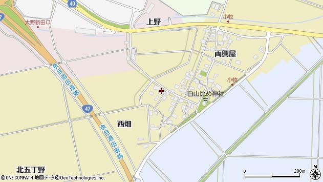 山形県酒田市小牧75周辺の地図