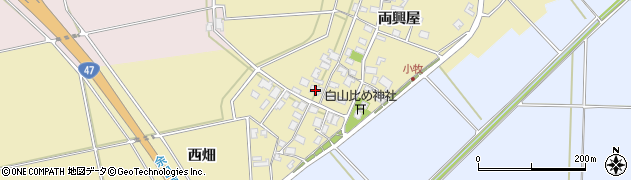山形県酒田市小牧86周辺の地図