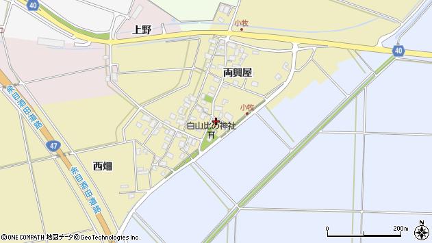 山形県酒田市小牧51周辺の地図