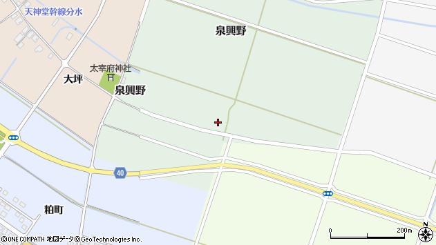 山形県酒田市泉興野55周辺の地図