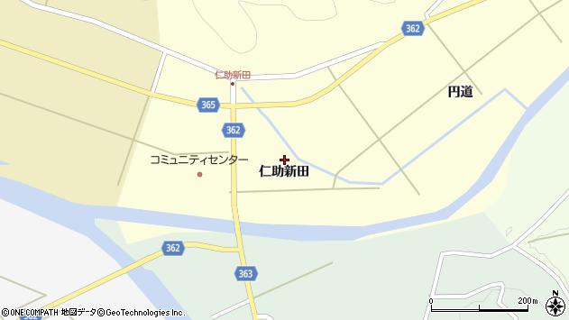 山形県酒田市北俣仁助新田42周辺の地図