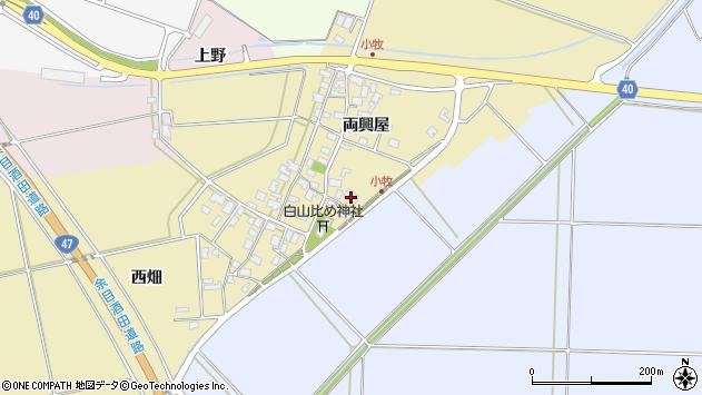 山形県酒田市小牧49周辺の地図