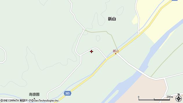 山形県酒田市楢橋新山周辺の地図