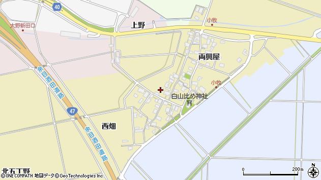 山形県酒田市小牧85周辺の地図