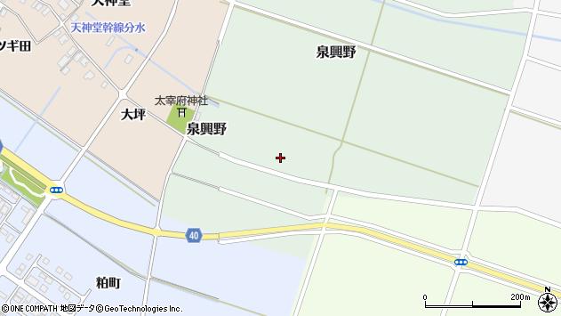 山形県酒田市泉興野58周辺の地図