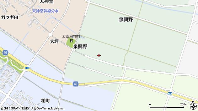 山形県酒田市泉興野60周辺の地図