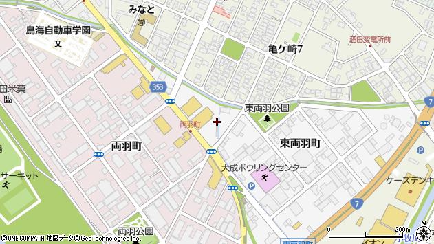 山形県酒田市東両羽町106周辺の地図