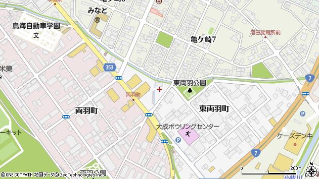 山形県酒田市東両羽町1周辺の地図