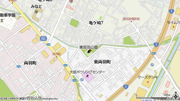 山形県酒田市東両羽町2周辺の地図