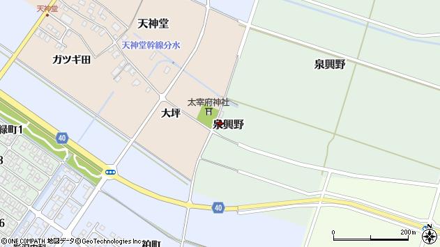 山形県酒田市天神堂大坪6周辺の地図
