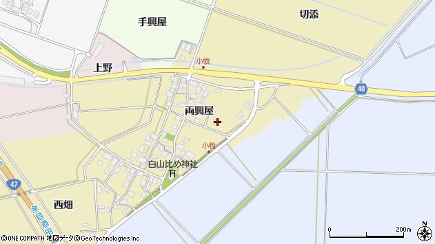 山形県酒田市小牧両興屋43周辺の地図
