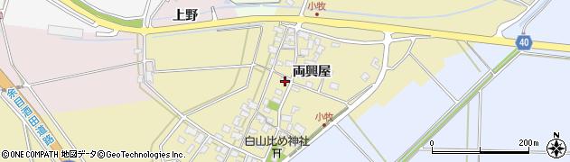 山形県酒田市小牧両興屋100周辺の地図