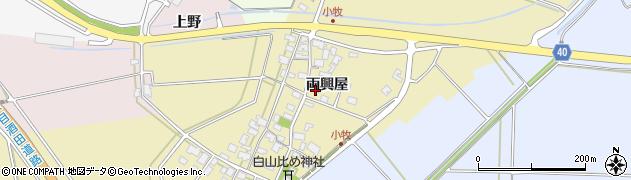山形県酒田市小牧38周辺の地図