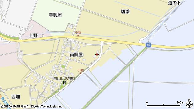 山形県酒田市小牧両興屋29周辺の地図