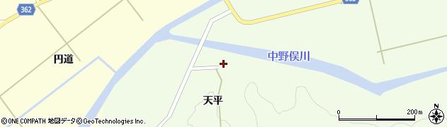 山形県酒田市中野俣天平3周辺の地図