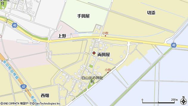 山形県酒田市小牧両興屋111周辺の地図