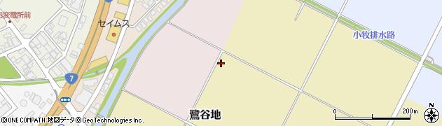 山形県酒田市鷺谷地周辺の地図