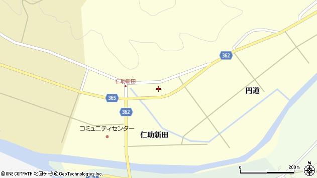 山形県酒田市北俣円道100周辺の地図