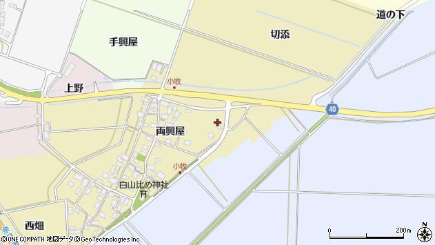 山形県酒田市小牧両興屋31周辺の地図