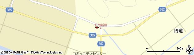 山形県酒田市北俣仁助新田58周辺の地図