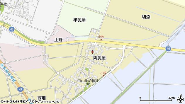 山形県酒田市小牧114周辺の地図
