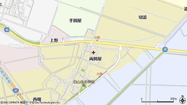 山形県酒田市小牧37周辺の地図