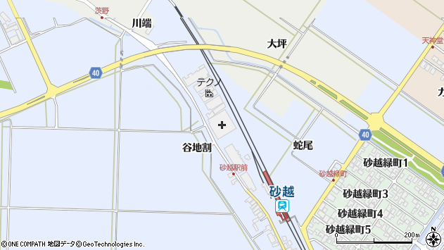 山形県酒田市砂越蛇尾91周辺の地図