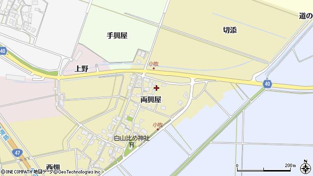 山形県酒田市小牧両興屋32周辺の地図