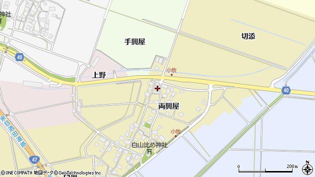 山形県酒田市小牧115周辺の地図