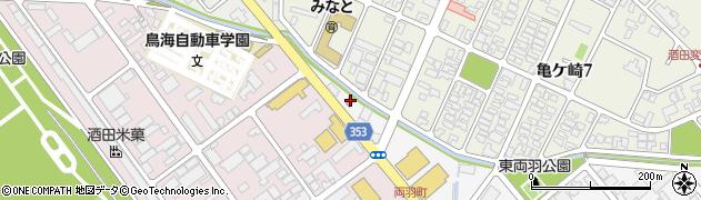 山形県酒田市東両羽町166周辺の地図